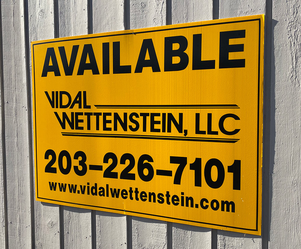 Vidal Wettenstein - Yellow Property Available Sign